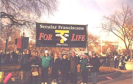 SFOs with banner in the March for Life