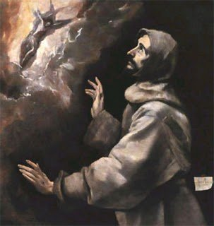 St. Francis gazing at Christ crucified